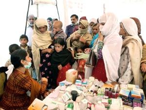 Trabajadora humanitaria en Pakistán