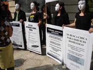 Manifestación de Médicos del Mundo contra la trata de personas